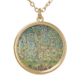 Apfelbaum durch Gustav Klimt, Vintage Kunst Vergoldete Kette