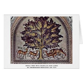 Apfelbaum mit Gazellen und Löwen Karte