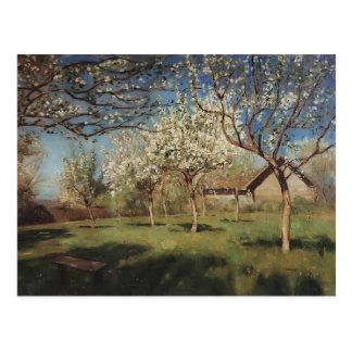 Apfelbäume Isaacs Levitan- In der Blüte Postkarte
