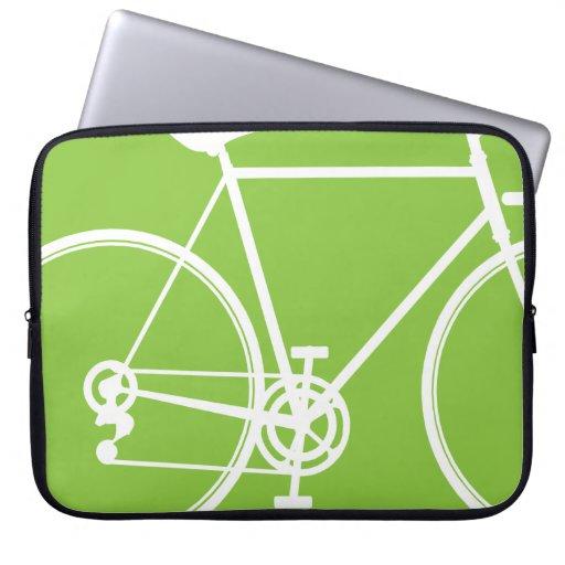 Apfelgrüne Fahrradentwurf Laptop-Hülse Laptop Sleeve Schutzhülle
