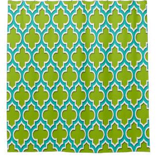 Apfelgrünes aquamarines Weiß XL marokkanisches Duschvorhang