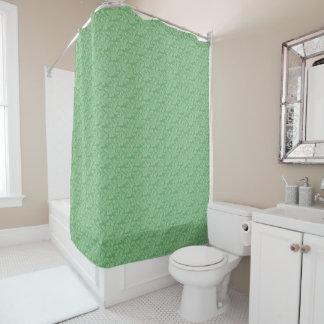 Apfelgrünes Fraktal-Ähnliches Duschvorhang