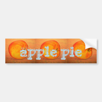 Apfelkuchen Autoaufkleber