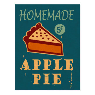 Apfelkuchen Postkarte