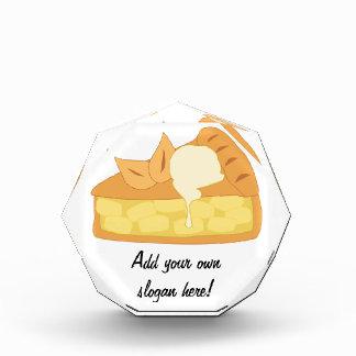Apfelkuchen-Scheibe mit Eiscreme-Bild Acryl Auszeichnung