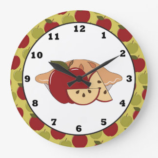 Apfelkuchen-süße Leckerei-Wanduhr Große Wanduhr