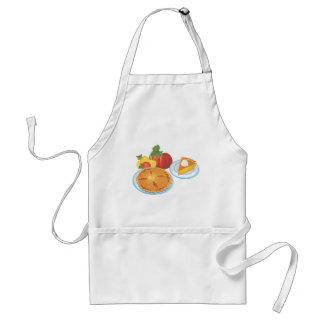 Apfelkuchen und Kürbiskuchen Schürze