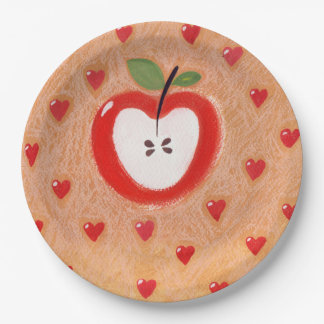 Apfelkuchenplatte Pappteller