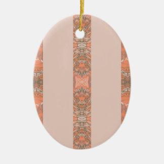 Apfelsine Keramik Ornament