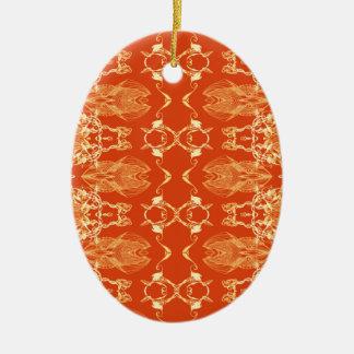 Apfelsine Ovales Keramik Ornament
