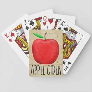 Apfelwein-Rot Apple Spielkarten