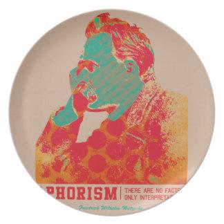 Aphorismus - Friedrich Nietzsche- Melaminteller