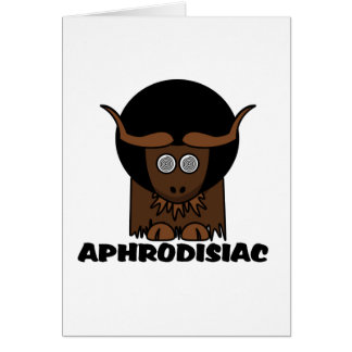 Aphrodisiaclustiger Afro-schwindlige Yak Karte