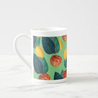 aples und Zitronengrün Porzellantasse