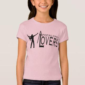 Apokalyptische Liebhaber - Mädchen rosa fliegendes T-Shirt