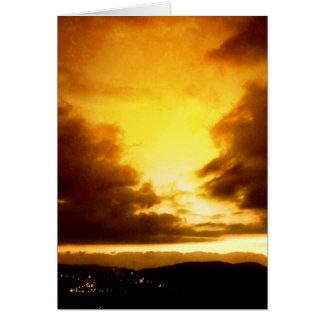 Apokalyptischer Sonnenuntergang Karte