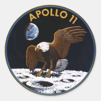 Apollo 11 runde sticker