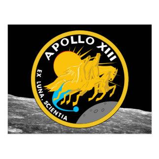 Apollo 13 die NASA-Auftrag-Flecken-Logo Postkarte
