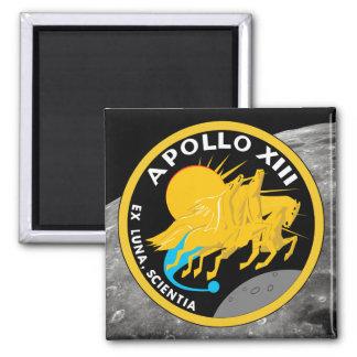 Apollo 13 die NASA-Auftrag-Flecken-Logo Quadratischer Magnet