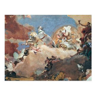 Apollo in seinem SunChariot, der Beatrice I fährt Postkarte