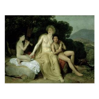 Apollo mit Hyacinthus und Cyparissus Postkarte