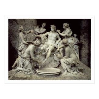 Apollo neigte durch die Nymphen, bestimmt für den Postkarte