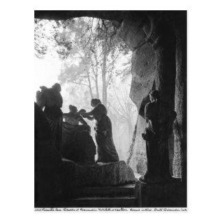 Apollo neigte durch Nymphen im bosquet der Bäder Postkarte