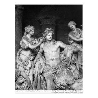 Apollo neigte durch Nymphen in der Waldung von Postkarte