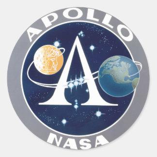 Apollo-Programm Runde Aufkleber
