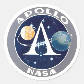 Apollo-Programm Logo Runder Aufkleber