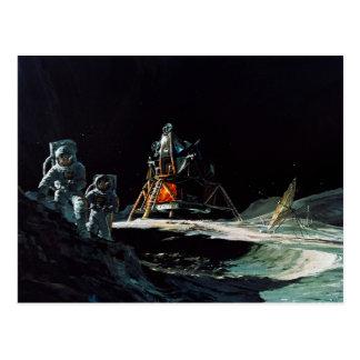 Apollo-Programm - Mond-Auftrag-Künstler-Konzept Postkarte
