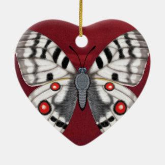 Apollo-Schmetterling Keramik Ornament