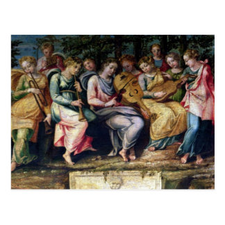 Apollo und die Musen, 1600 Postkarte