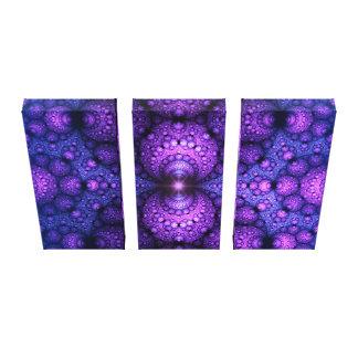 Apophysis-Fraktal - Atom-Fusion - Triptychon Galerie Gefaltete Leinwand