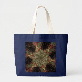 Apophysis-Fraktal-Stern-Blumen-Entwurf Jumbo Stoffbeutel