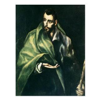 Apostel St James EL Greco- das größere Postkarte