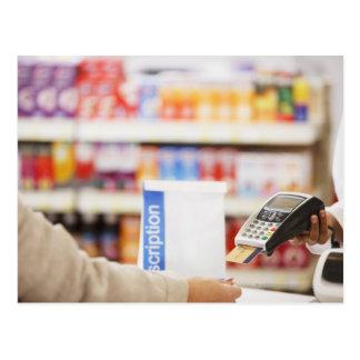 Apotheker, der Art der Sicherheitsleistung für Postkarte