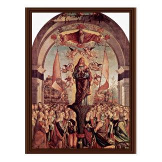 Apotheose von St Ursula durch Carpaccio Vittore Postkarte