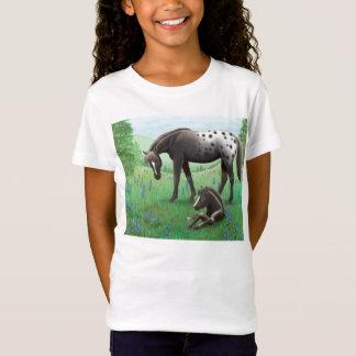 Appaloosa-Pferde-u. Fohlen-Mädchenbabydoll-Shirt T-Shirt