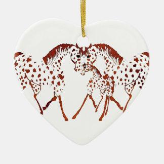 Appaloosapferdeliebhabergeschenke und -kleid keramik ornament