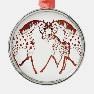 Appaloosapferdeliebhabergeschenke und -kleid silbernes ornament