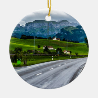 Appenzell Alpen während eines Regens stürmen - die Keramik Ornament