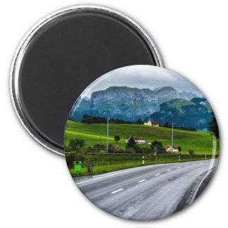 Appenzell Alpen während eines Regens stürmen - die Runder Magnet 5,1 Cm