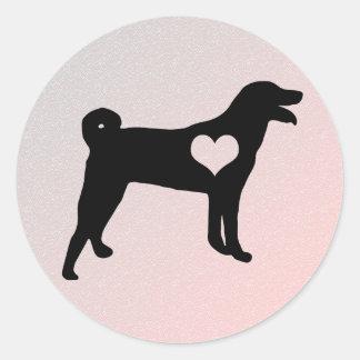 Appenzeller Sennenhund Herz-Aufkleber