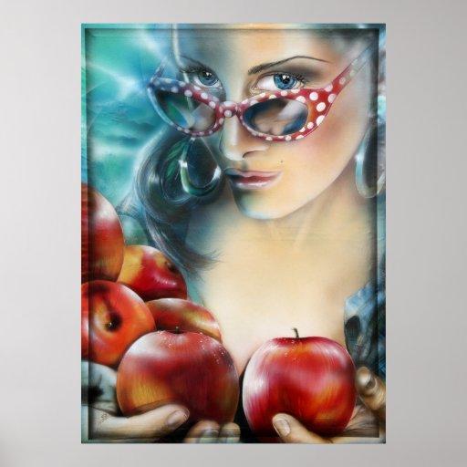 Apple apples apfel äpfel druck print poster kunst