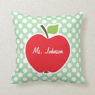 Apple auf Celadon grünen Tupfen Kissen