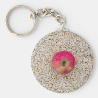 Apple auf Hafermehl Schlüsselanhänger
