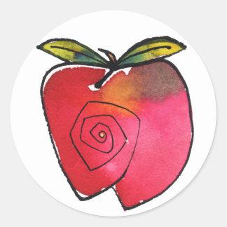 Apple-Aufkleber Runder Aufkleber