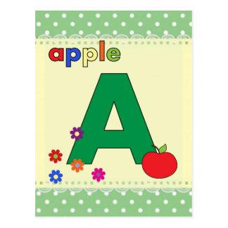 Apple beschriften A Postkarte