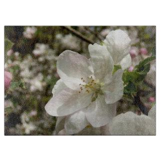 Apple blühen dekoratives hackendes Glasbrett Schneidebrett